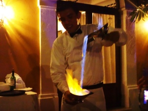 Fire show!-Dinner-Tulum