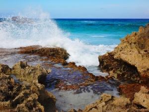 Splashing Water on Rocks-Cozumel-Day 3