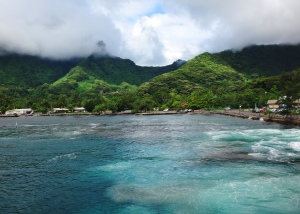 Arriving in Tahiti from the ferry